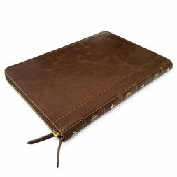 Smart Leather VINTAGE BOOK Laptop Folio Case, Cover Sleeve F