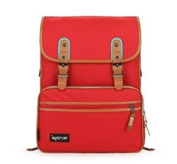 SmileDay Vintage Laptop Backpack for College School, Red