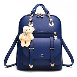 Soft Leather Backpack Lovely Schoolbag Shoulder Bag Sports K