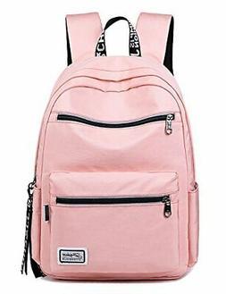 Solid Color Laptop Backpack College School Bag Book Bag Medi