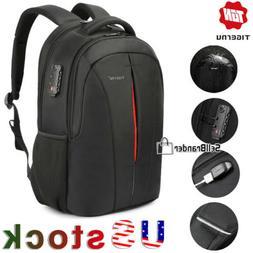Tigernu Splashproof 15.6 inch Laptop USB Backpack TSA Anti T