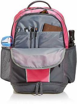 AmazonBasics Sport Laptop Backpack - Pink, Pink, Size medium