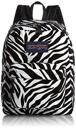 JanSport High Stakes Backpack Black Miss Zebra Flock 72016af81a569