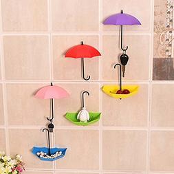 Sticky Hooks Plastic Cartoon Umbrella Design Seamless Wall D