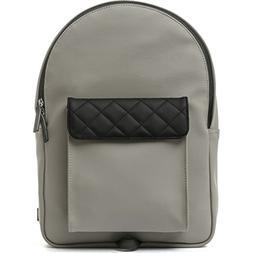 VENQUE Strada Mini Leather Backpack | Gray / Black