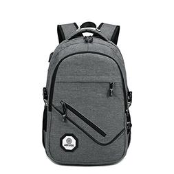 Facefuture Student Polyester Backpack with USB Charging Wate