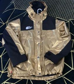 Supreme x The North Face Mountain Parka Jacket Metallic GOLD