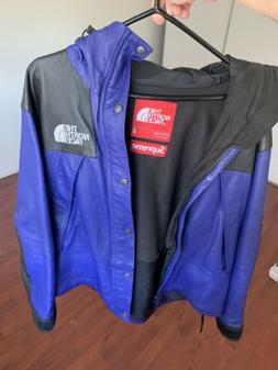 Supreme x The North Face Mountain Leather Parka Fw18 Blue Me