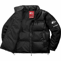 Supreme X The North Face TNF Leather Jacket Black Size Large