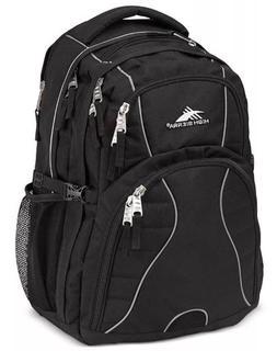 swerve backpack black padded 17 laptop school