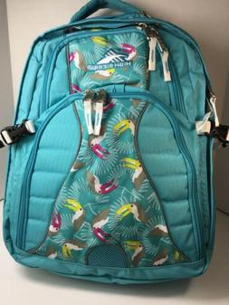 High Sierra Swerve Laptop Backpack, Tropic Teal/Toucan/White