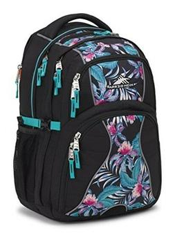 High Sierra Swerve Laptop Backpack for Women Black/Tropic Ni