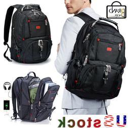 "Swiss 17""Men USB Charging Multifunctional Laptop Backpack Tr"