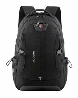 "Swiss Backpack Notebook 15.6"" Laptop Rucksack Shoulder Hikin"
