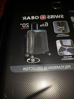 "Swiss Gear 20"" polycarbonate hard case carryon spinner"