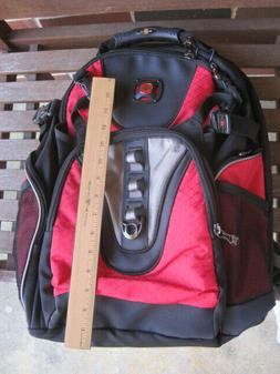 Swiss Gear backpack, red and black, laptop holder, padded, b