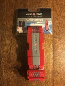 swiss gear red luggage strap