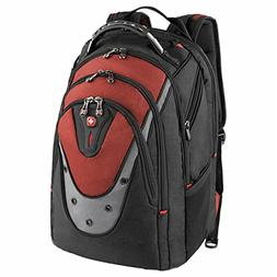 "SwissGear® Ibex Backpack With 17"" Laptop Pocket, Black/Red"