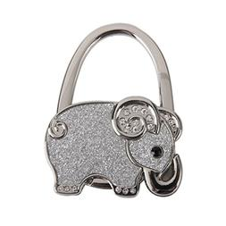 Table Foldable Purse Bag Rhinestone Elephant Hanger Handbag