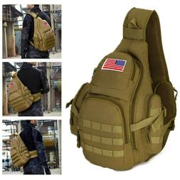 Tactical Military Sling Chest Pack Crossbody MOLLE Laptop Ba