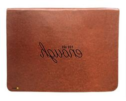 tan brown leather laptop sleeve