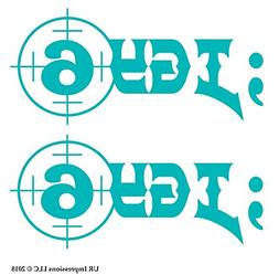 UR Impressions Teal ;IGY6 - I Got Your 6 2-Pack Decal Vinyl