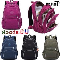 TEGAOTE Unisex Multiple Pocket Student School Bag Teenage La