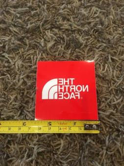 """The North Face Logo Red White Sticker Decal Approx 2.5"""" Sk"""