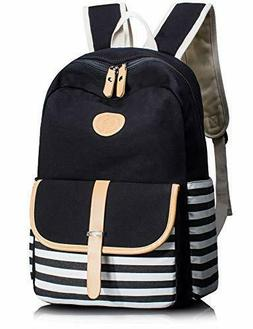 Leaper Thickened Canvas School Backpack for Girls Laptop Bag