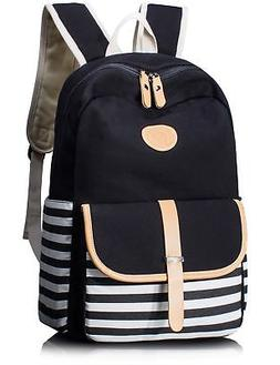 Leaper Thickened Canvas School Backpack Laptop Bag Shoulder