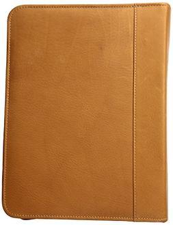 Piel Leather Three-Ring Binder Sd, Saddle
