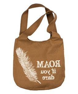 "Tote Bag Large - ""Roam if you Dare"" used for Groceries, Over"