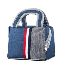 Lunch Bag Cooler Bag Lunch Tote Bag Reusable Zip Closure Han