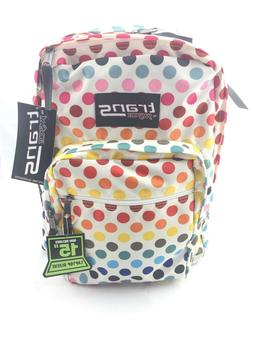 """Trans By JanSport 17"""" SuperMax Backpack Rainbow Dot"""