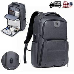 "Travel 17"" Laptop Backpack College Bag Hiking Rucksack Shoul"