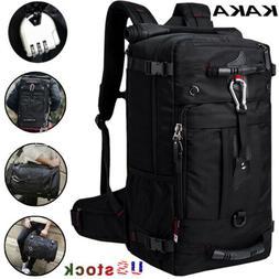 KAKA Traveling Breathable Comfortable Backpack for 17Inch Laptops Black US STUCK