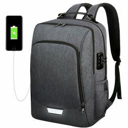 Vbg Vbiger Travel Laptop Backpack 17Inch Security Business B