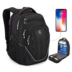 TSA Friendly, Swissdigital Water-Resistant Large Backpack, B