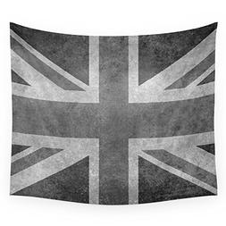 Society6 Union Jack Vintage Retro Style In Grayscale Wall Ta