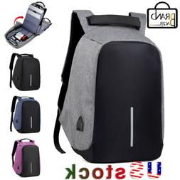 Unisex Anti-Theft Laptop Backpack Travel Chest School Bag Wi