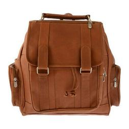 Piel Leather Unisex  Double Loop Flap-Over Laptop Backpack 3