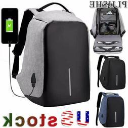 Unisex multifunctional Anti-Theft Backpack Laptop Travel USB