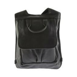 Piel Leather Unisex  Slim Laptop Flap Backpack 3083