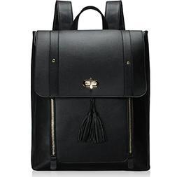 Estarer Upgraded Version Women PU Leather Backpack 15.6inch