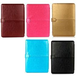 US Faux Leather Laptop Folio Cover Case For Macbook 15.4 Ret