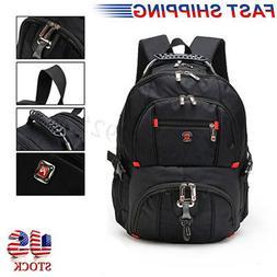 us men nylon backpack notebook laptop travel