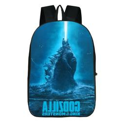 US Shipping Godzilla Backpack Students Schoolbag Kids Travel