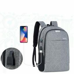USB Charging Anti-Theft Mens Womens Backpack Laptop Notebook
