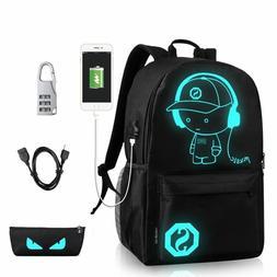 USB Luminous Luminescent Fluorescent Laptop Notebook Backpac