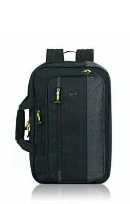 "Solo Velocity 15.6"" Laptop Hybrid Backpack Briefcase, Navy/G"